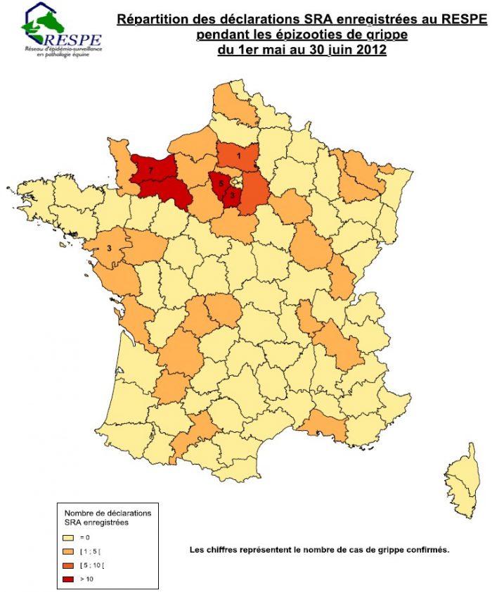 Cas de grippe 2012 france - RESPE