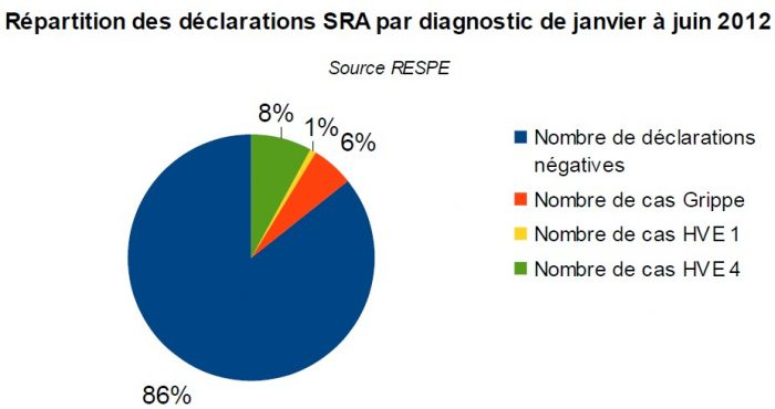 Répartition SRA par diagnostic 2012 - RESPE