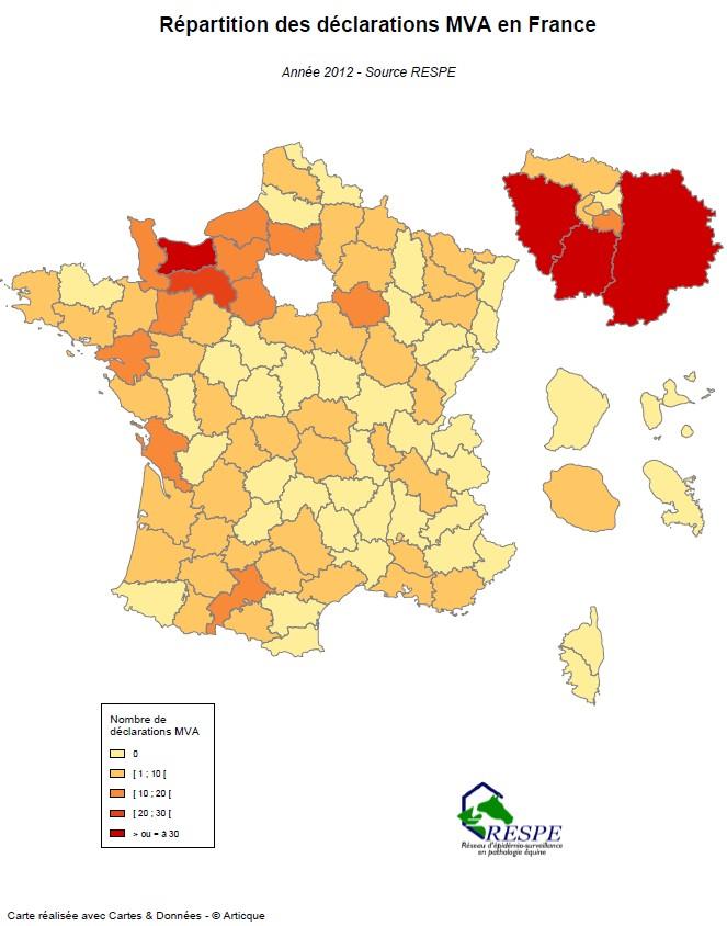 Bilan sous-réseau 2012 carte MVA - RESPE