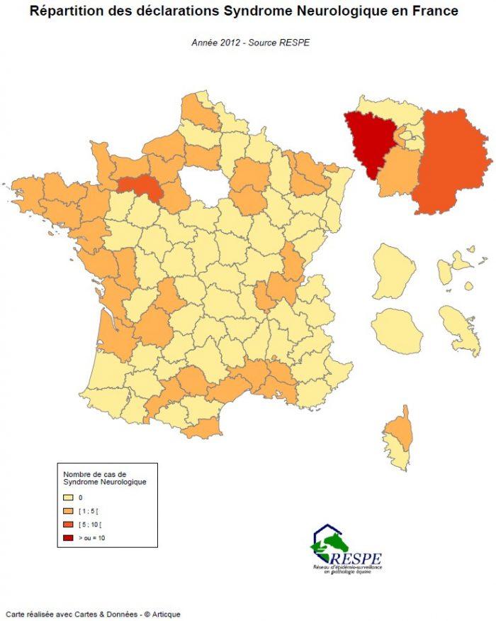 Bilan sous-réseau syndrome neurologique carte 2012 - RESPE