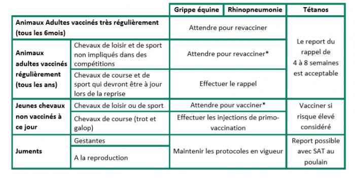 Vaccination Des Chevaux Pendant La Crise Du Covid 19 Syntheses Des Recommandations Du Comite D Experts Du Respe Respe