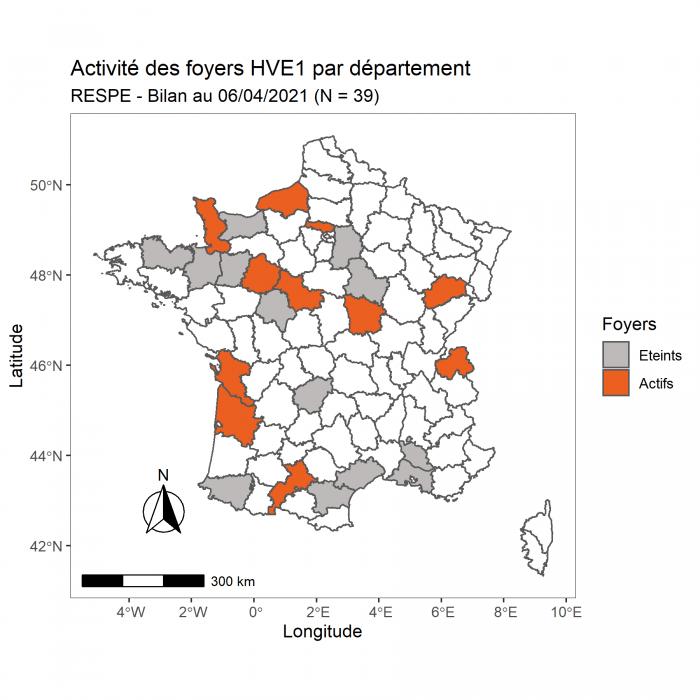 La cellule de crise du RESPE s'est réunie pour la cinquième fois le 06 avril dans le cadre des foyers d'herpèsvirose de type 1 (HVE1 – rhinopneumonie) confirmés en Espagne et dans plusieurs départements en France en lien épidémiologique avec les foyers espagnols.